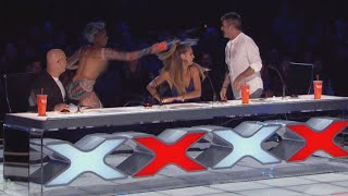 Mel B. Dumps Water Over Simon Cowell During 'America's Got Talent'
