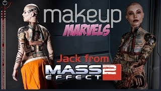 *NSFW* Makeup Marvels: Jack from Mass Effect 2 Full-Body Tattoo + Giveaway - BIOWARE APPROVED!