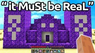 Worlds FUNNIEST FAKE Minecraft Speedruns EVER...