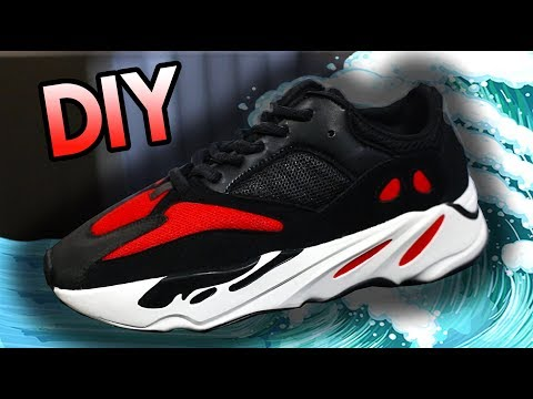HOW TO: YEEZY BRED RUNNER CUSTOM FROM WAVE RUNNER 700'S !