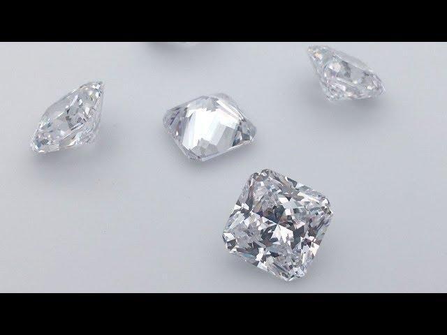 Best Top quality Cubic Zirconia Radiant Cut White Color CZ Gemstones wholesale