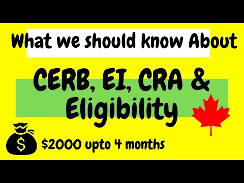 Who Can Apply For CERB | How To Apply For CERB | Creating CRA Account Explained