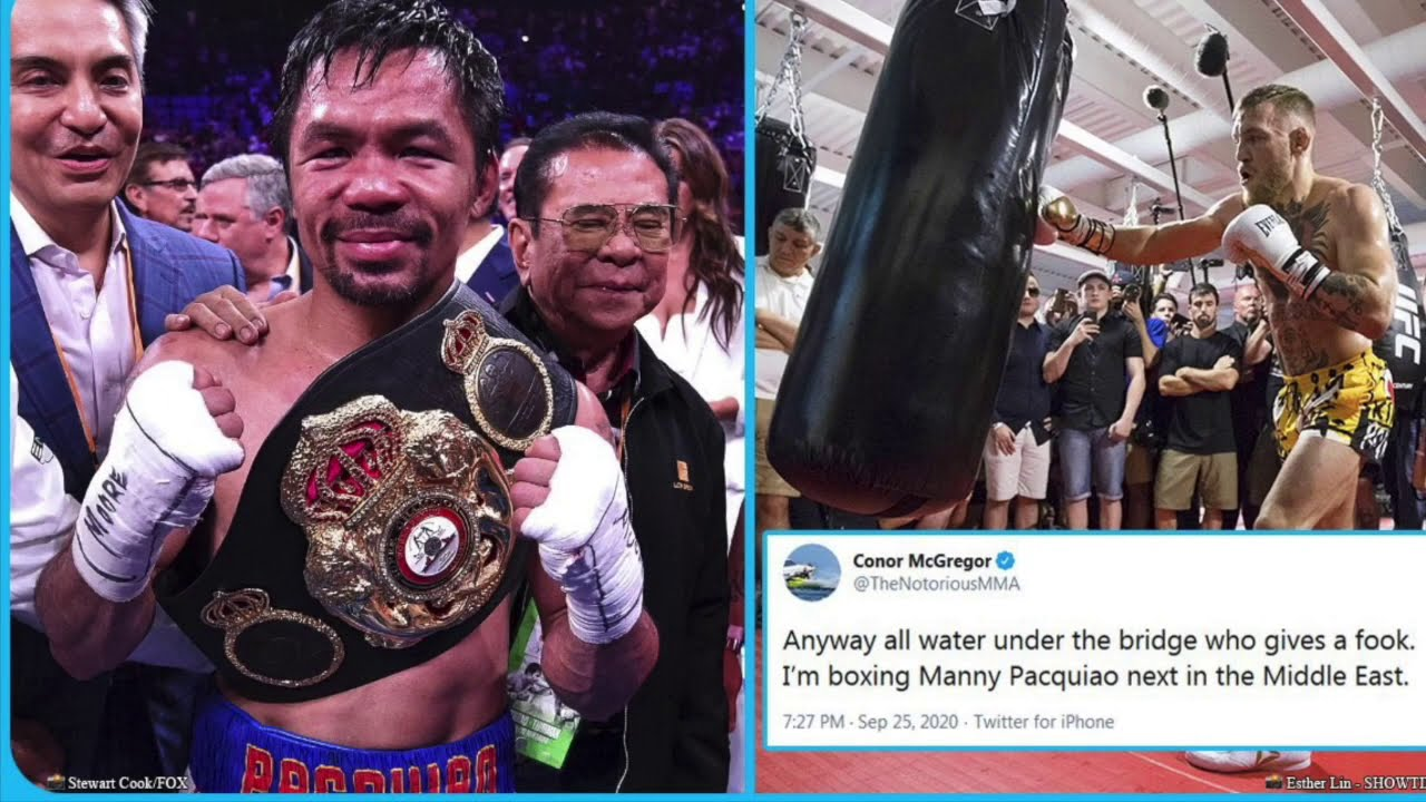 IS IT TRUE?! CONOR MCGREGOR CLAIMS HE'S FIGHTING MANNY PACQUIAO NEXT IN MIDDLE EAST!