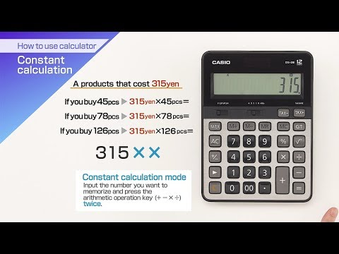 CASIO【How to use calculator Constant calculation】 - YouTube