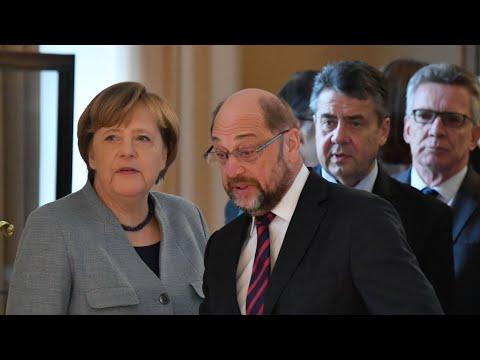 Germany: SPD backs coalition talks with Merkel's conservatives