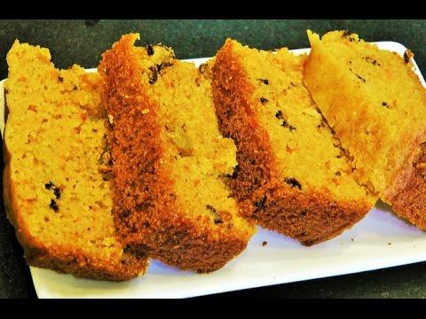 कॅरट केक | Eggless Whole Wheat Carrot Cake in Pressure Cooker | Pressure Cooker Cake Recipe