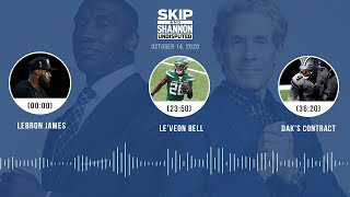 LeBron James, Le'Veon Bell, Dak's contract (10.14.20) | UNDISPUTED Audio Podcast