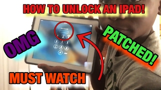 How to unlock an iPad without the passcode!!!!!! (2017)