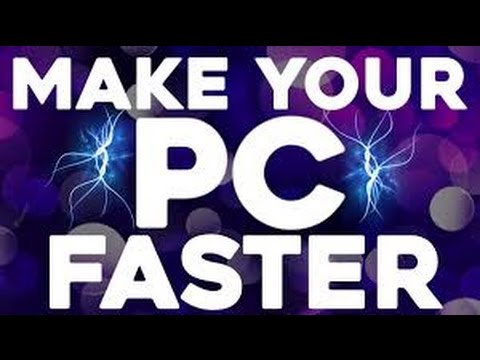 How To Make Your PC Faster / Windows 7 - YouTube