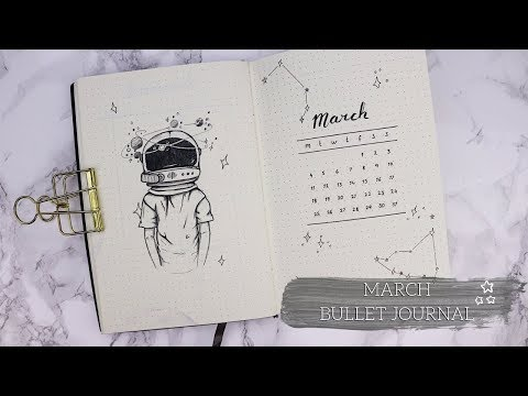 March Bullet Journal   PLAN WITH ME   Space