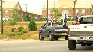 South Carolina students stand up for American Flag