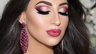 Mauve Semi Cut Crease Carli Bybel Palette Deluxe Edition & Lip Strobe Huda Beauty | Melissa Samways