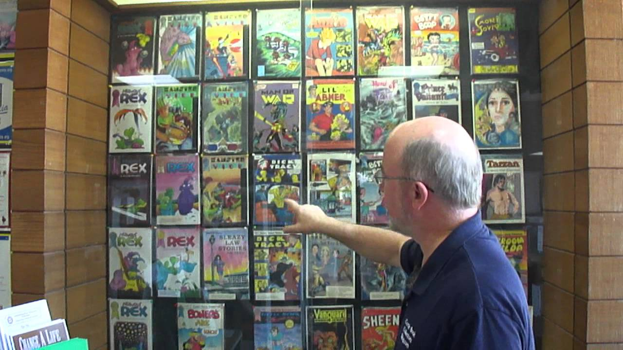 Comic Book Storage Cabinets Barbara Marker Artists Comic Book Work Display On Exhibit Youtube