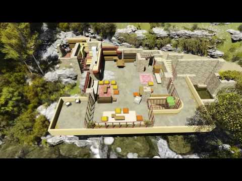 Fallingwater 3d House By Frank Lloyd Wright Youtube