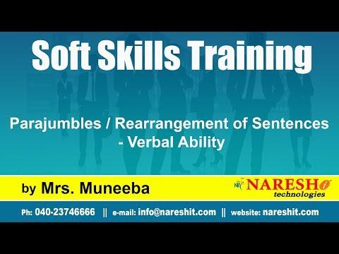 Parajumbles / Rearrangement of Sentences - Verbal Ability | Soft Skills Training