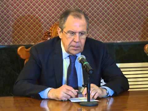 С.В.Лавров на совместной пресс-конференции с МИД Монголии Л.Пурэвсурэном