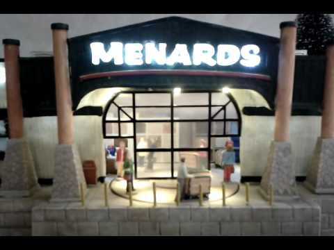 Menards Christmas building - YouTube