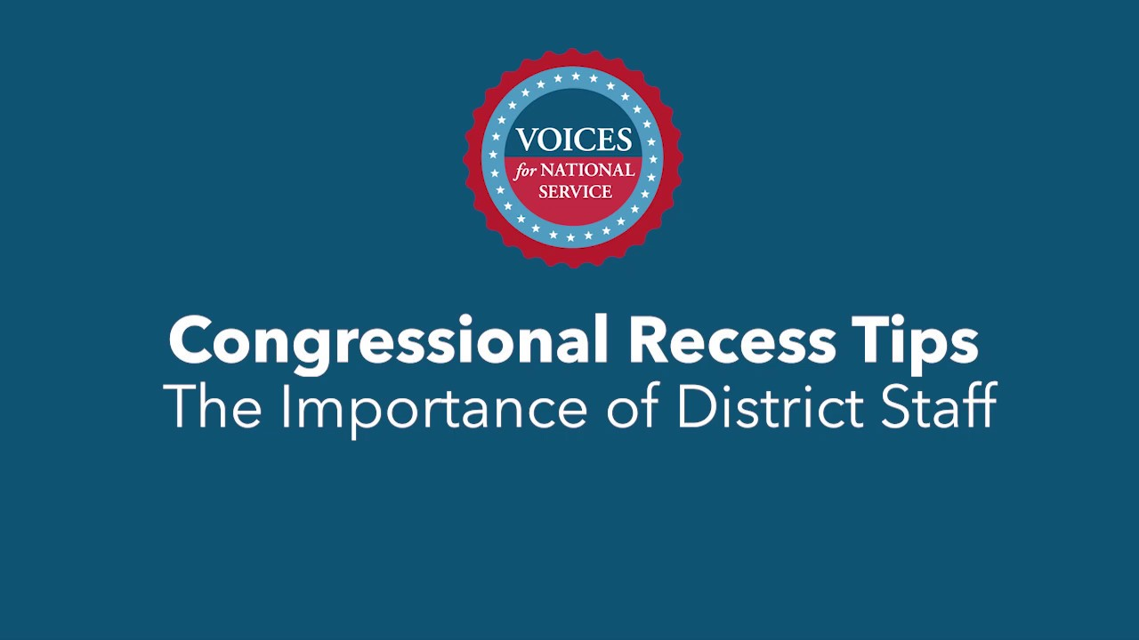 The Importance Of Recess Two Videos >> The Importance Of District Staff Congressional Recess Tips Youtube