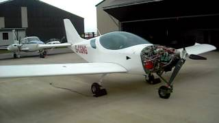 Greek Plane Builder makes progress on Sport Cruiser Build. First Run of Rotax Engine