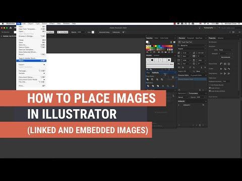 How to Work and Place Images in Illustrator (Linked and Embedded Images)