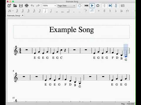 composition - Music play along score animation software