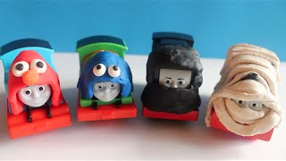Thomas And Friends Halloween Costume Play Doh Elmo, Cookie Monster, Ninja, Mummy