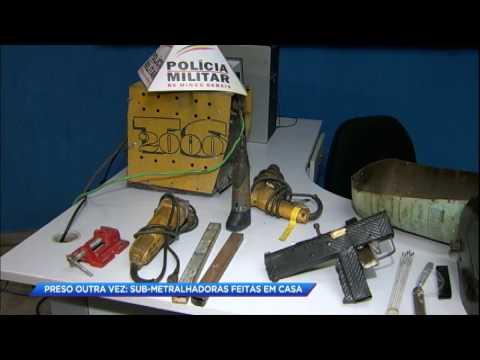 Homem é preso fabricando submetralhadoras em Minas Gerais