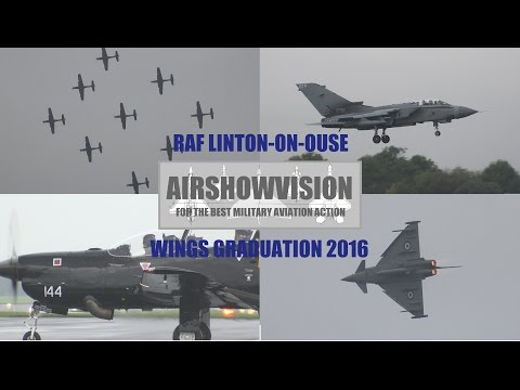 RAF WINGS GRADUATION OCT 2016: LINTON-ON-OUSE Feat: Typhoon GiNA! (airshowvision)