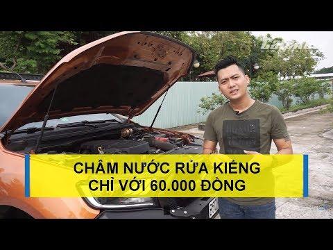 Tự châm nước rửa kiếng xe ô tô một cách dễ dàng