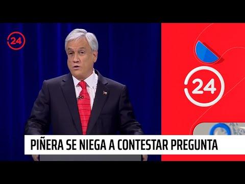 Sebastián Piñera se niega a contestar pregunta relativa a delincuencia