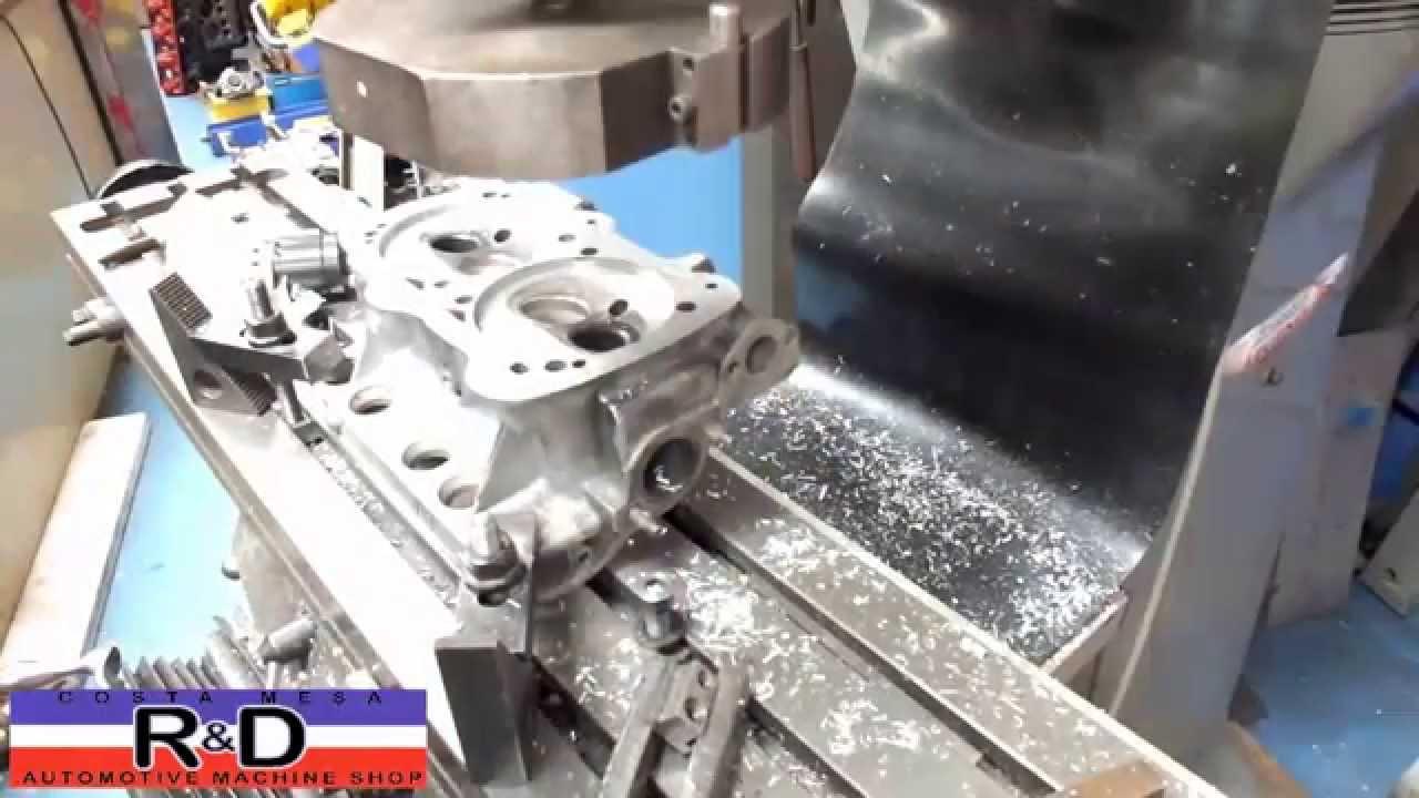 Cylinder Head Resurfacing : Vw water boxer cylinder head resurface youtube