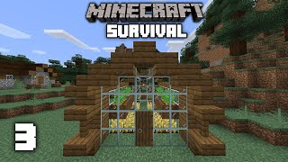 Minecraft: Greenhouse & Village Rescue! - 1.15 Survival Let's play | Ep 3