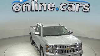 A98707DT Used 2015 Chevrolet Silverado 1500 LT 4WD Silver Test Drive, Review, For Sale