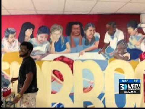 12.02.15:  PM Bounce #2 | Allenbrook Elementary School Mural