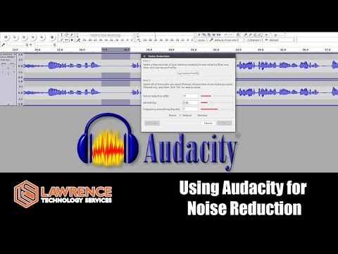 How you use the Noise Reduction tool in Audacity to clean up audio