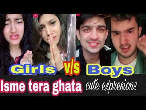 Isme tera ghata Girls v/s Boys cute expressions||gajendra vrma||worldwide trandeing part 3