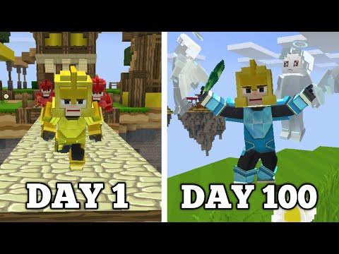 I Survived 100 DAYS in BedWars SQUAD MODE!! (Blockman Go)