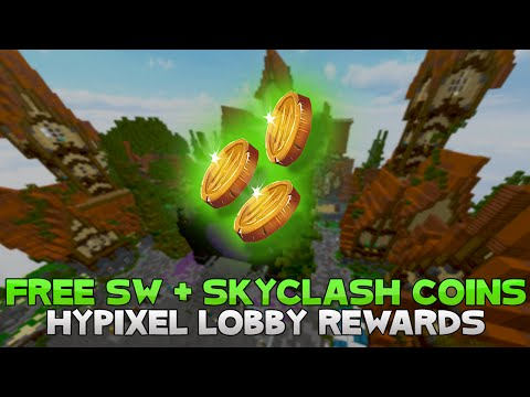 GET FREE SKYWARS AND SKYCLASH COINS IN HYPIXEL! ( All 34 Lobby Rewards )