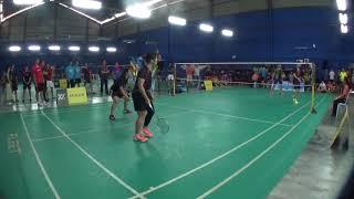 20170820居鑾國際羽球賽U18 DOUBLE FINAL Wu Yu Chen+Liu Chiao Yun(NTSU)vs Tew Cheng Jie+Lau Yi Sheng(HHTE)-2
