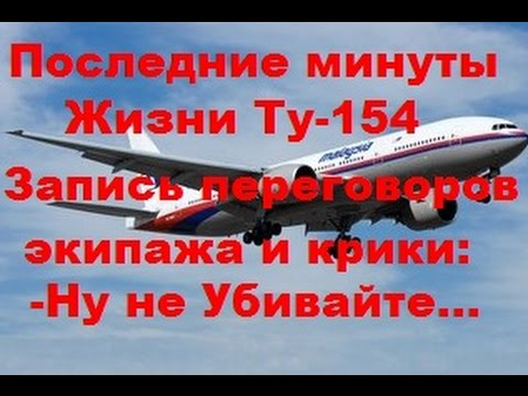 ПОСЛЕДНИЕ МИНУТЫ ЖИЗНИ ТУ-154  ЗАПИСЬ ПЕРЕГОВОРОВ ЭКИПАЖА И КРИК...- НЕ УБИВАЙТЕ...