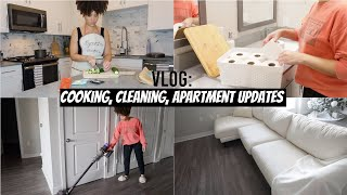 VLOG: Apartment Updates, Cooking, Cleaning
