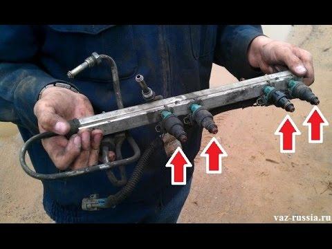 Смотреть Чистка форсунок инжектора своими руками. Простой метод