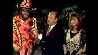 Mean Gene interviews Macho Man and Miss Elizabeth (11-17-1991)