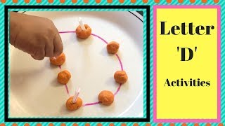 Letter D Activities for Toddlers & Preschoolers| Alphabets Learning Activities for 1-3 year series
