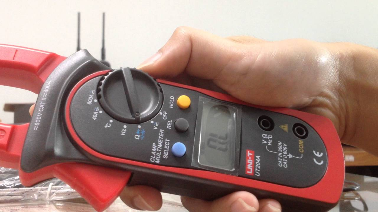 T210d Digital Ac Dc Voltage Resistance Clamp Meter : รีวิว clamp meter uni t ut a youtube
