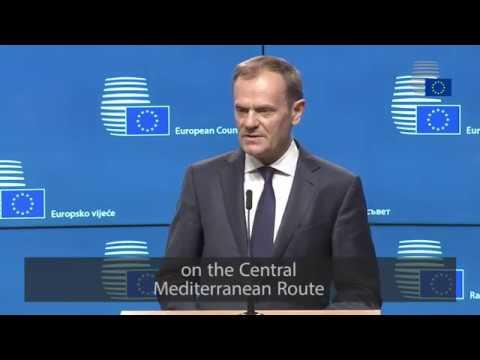 President Tusk outlines European Council agenda