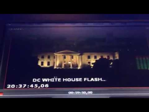 Strange Red Strobe Lights Appear To Flash From Inside The White House