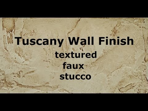 Tuscany Wall Finish:  Textured Faux Stucco