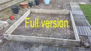 Full version: Building my own greenhouse: Part 1: Foundation