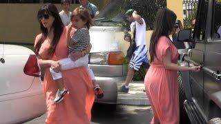 Pregnant Kim Kardashian And Family Go To Church And Get Lunch At Marmalade Cafe